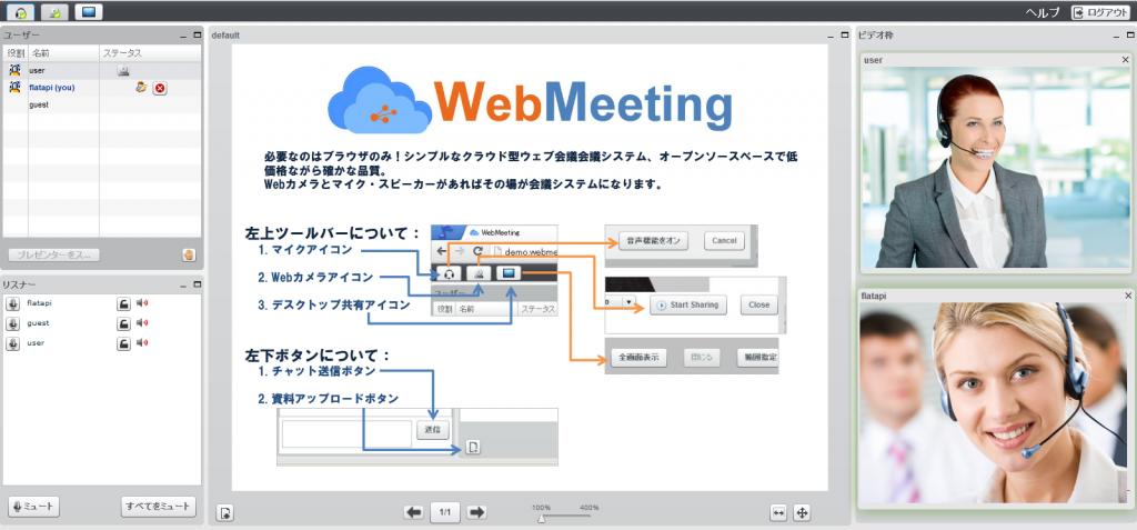 テレビ会議システム WebMeeting クラウド型 インターネット